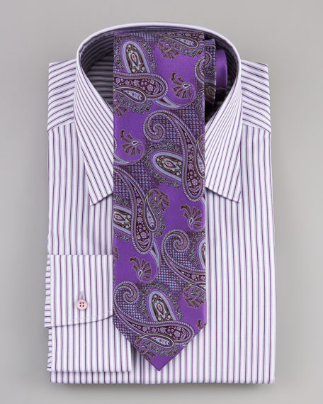 Textured Paisley Tie, Purple
