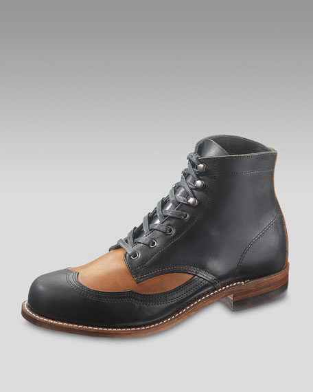 Addison Two-Tone Wing-Tip Boot