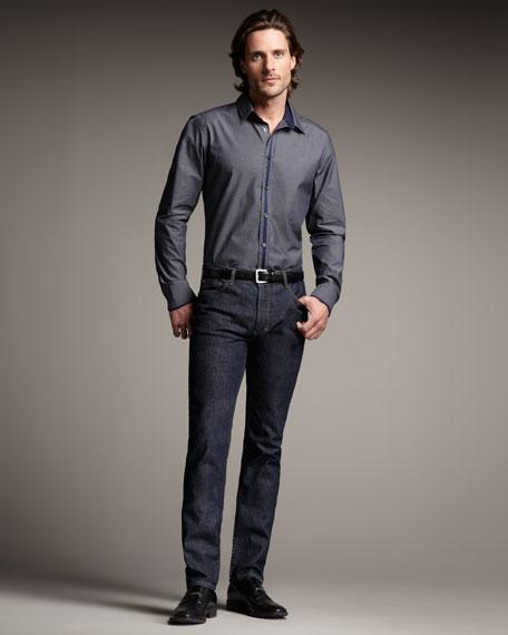 Clean Dark Blue Jeans