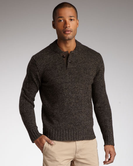 Tweed Henley Sweater