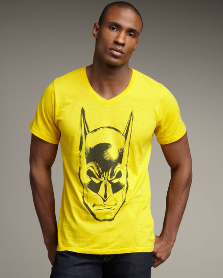Batman V-Neck Tee, Yellow