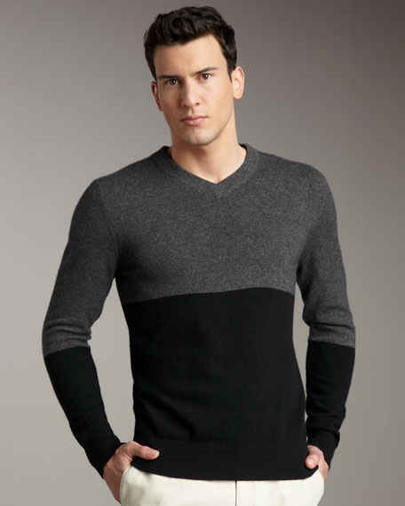 Colorblock Cashmere Sweater