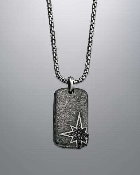 "Maritime North Star Tag Necklace, Black Diamond, 24""L"