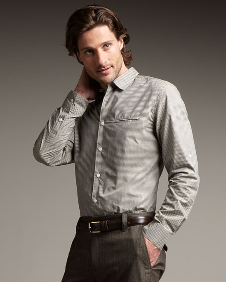 Slim-Fit Adjustable-Sleeve Shirt