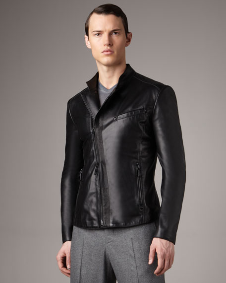 Asymmetric Leather Jacket