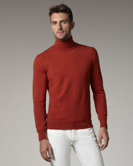 Elbow-Patch Turtleneck Sweater