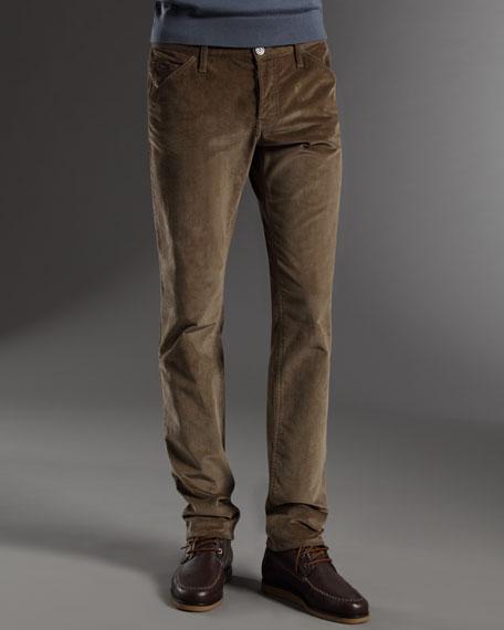 Corduroy Skinny-Fit Pants