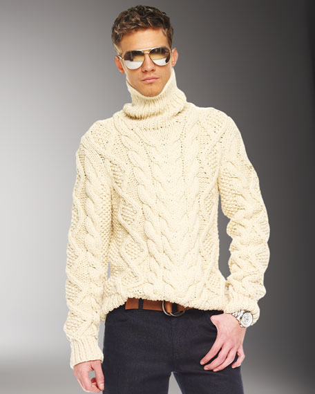 Handknit Cable Sweater