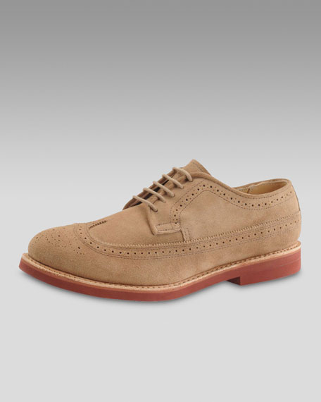 Dirty Buck Suede Wing-Tip