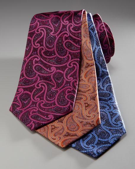 Large-Paisley Tie, Burgundy