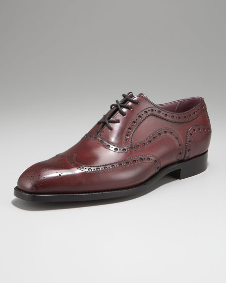 Archdale Wing-Tip, Plum