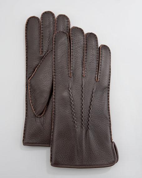 Rabbit-Lined Deerskin Gloves
