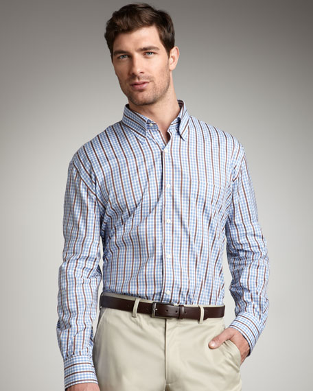 Striped Check Woven Shirt