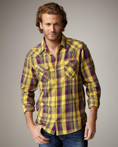 Check Flannel Western Shirt