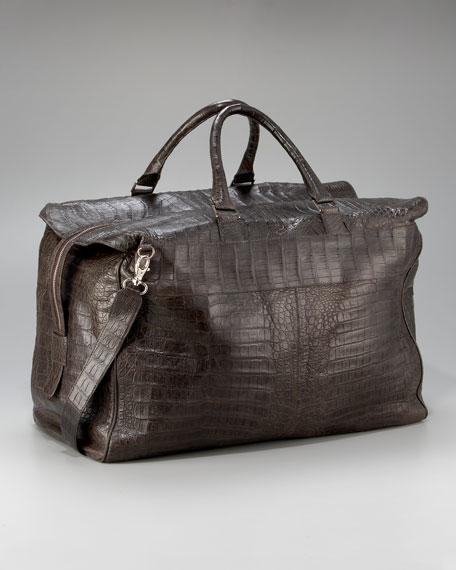 Crocodile Carryall Bag, Large