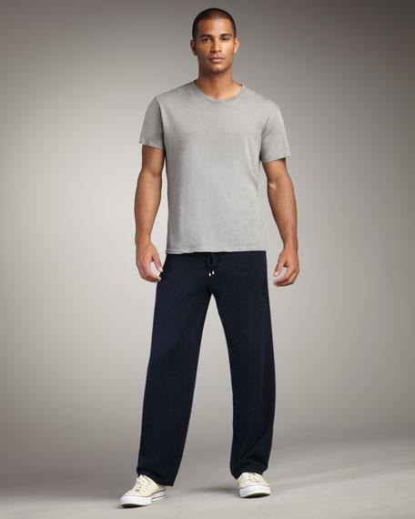 Cashmere Track Pants, Navy