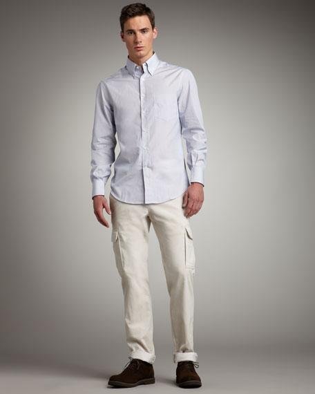 Slim Corduroy Cargo Pants