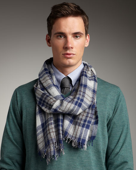 Big-Plaid Scarf