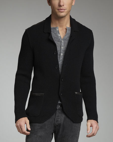 Ribbed Fisherman Jacket