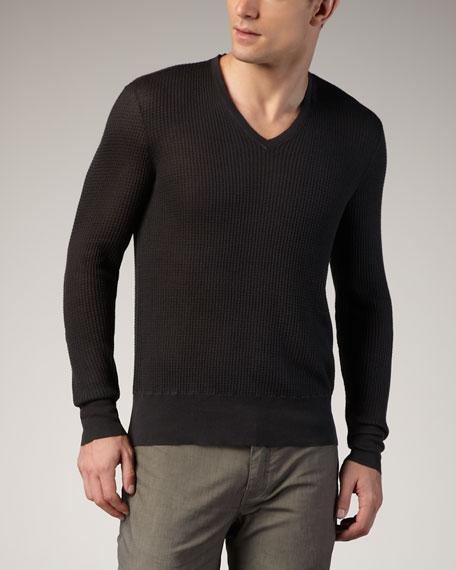 Thermal V-Neck Sweater