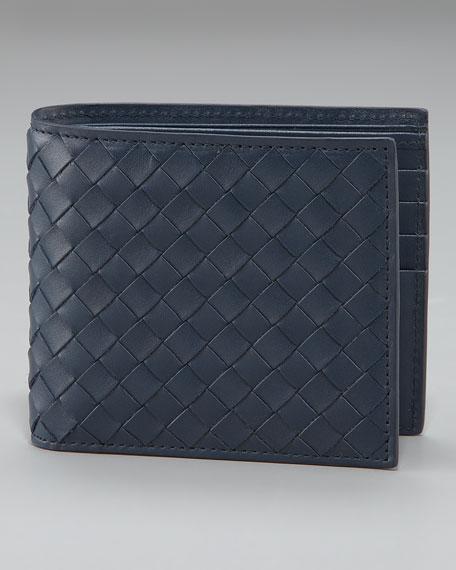 Basic Woven Wallet, Navy