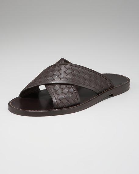 Woven Cross-Strap Sandal