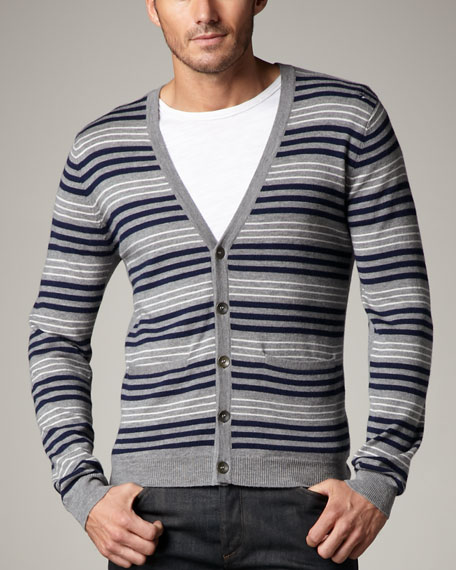 Henry Striped Merino Cardigan