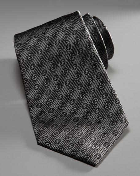 Diagonal GG-Print Tie