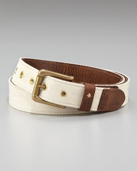 Canvas-Leather Belt