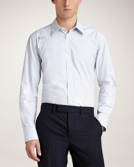 Striped Harness Shirt, Light Blue