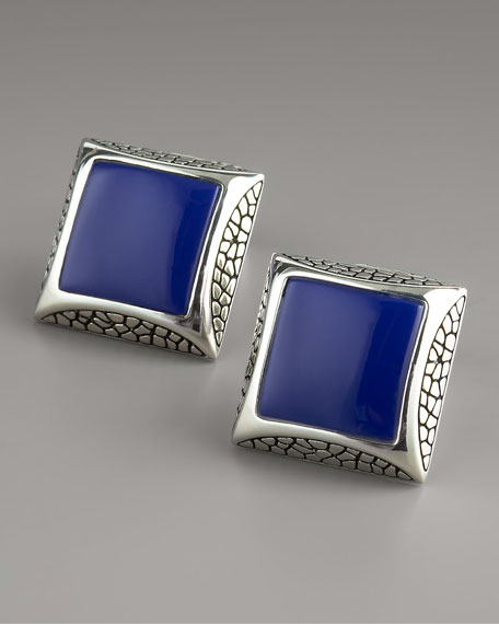 Square Lapis Cuff Links