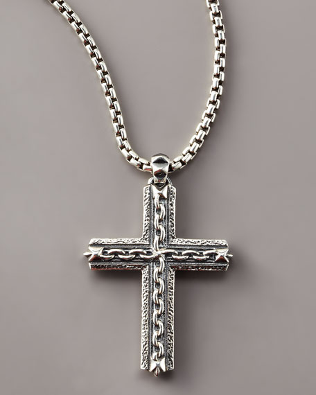 Oxidized Cross Necklace