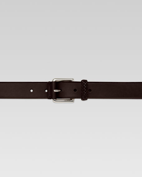 Braid-Loop Leather Belt
