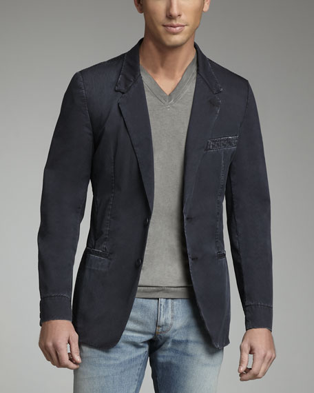 Garment-Dyed Cotton Blazer