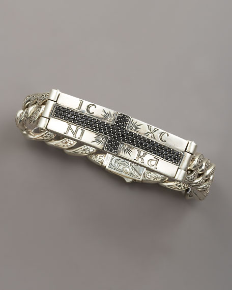 Spinel-Cross ID Bracelet