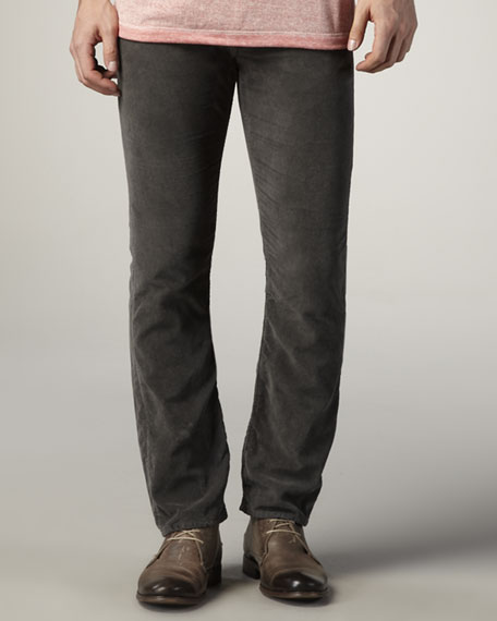 Straight-Leg Corduroy Pants