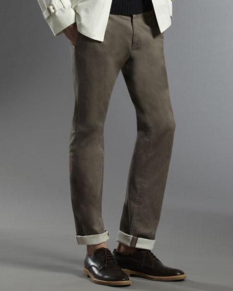 Cuffed College Pants
