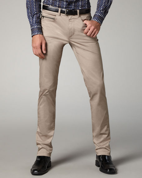 Slim Five-Pocket Pants