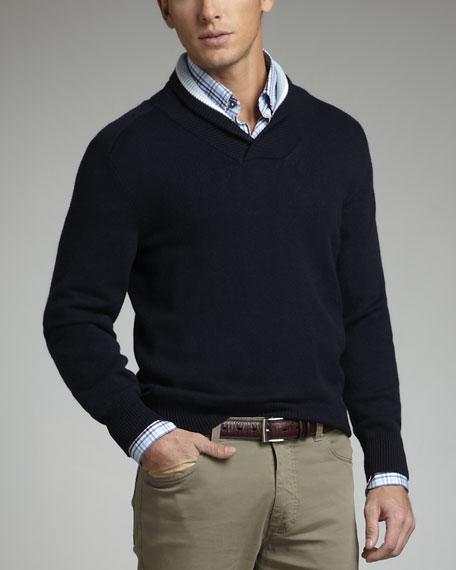 Shawl-Collar Sweater