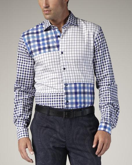 Patchwork-Check Sport Shirt
