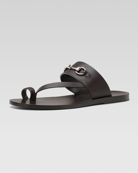 Horsebit Toe-Strap Sandal