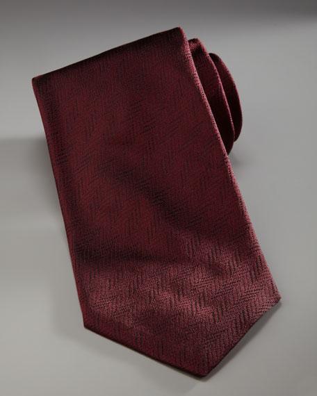 Textured Chevron Tie
