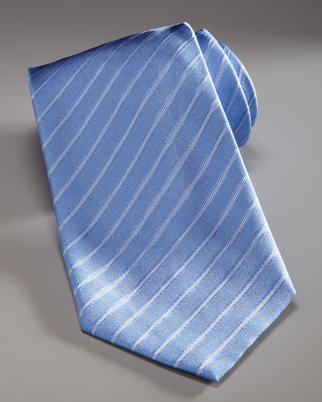 Striped Silk Tie, Blue