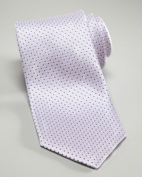 Micro-Neat Silk Tie, Lavender