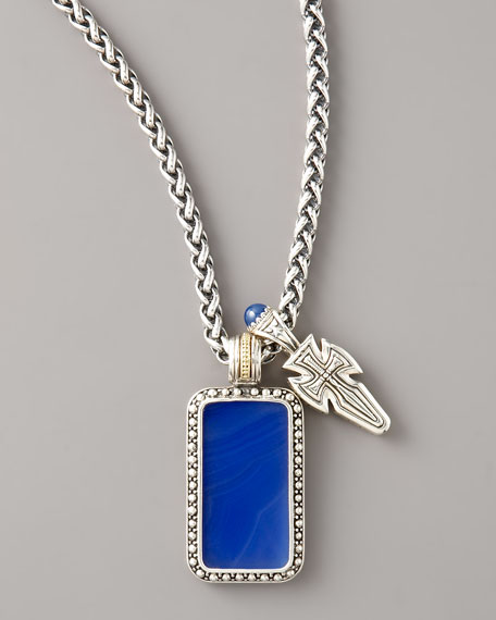 Agate Tag Necklace