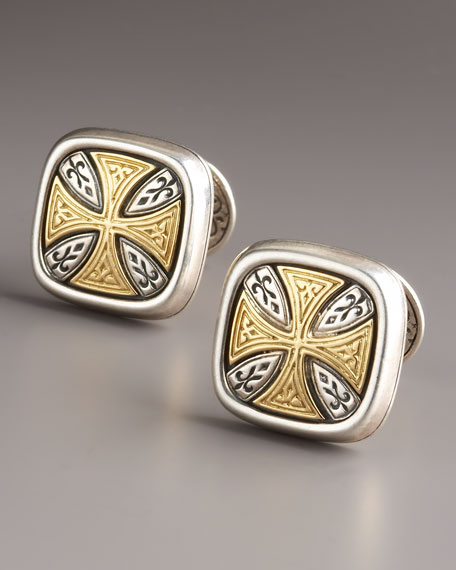 Maltese Cross Cuff Links