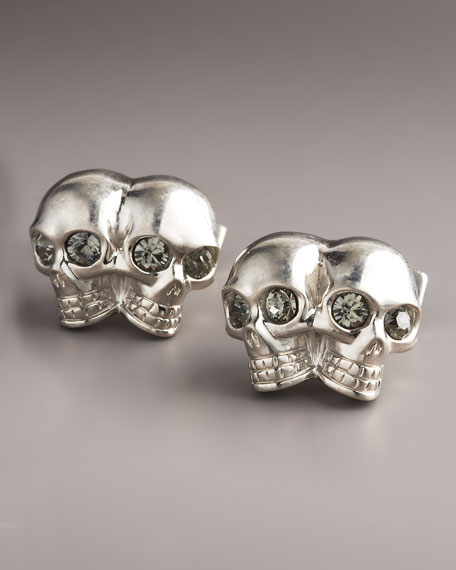 Double Skull Cuff Links