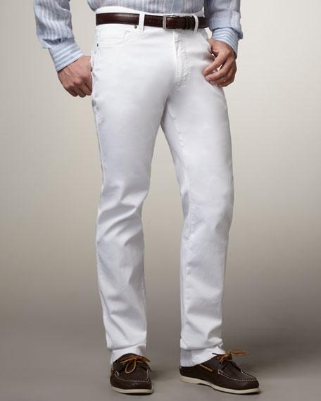 Five-Pocket Pants, White