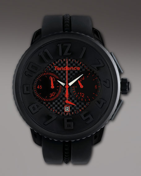 50mm Gulliver Chronograph Watch, Black