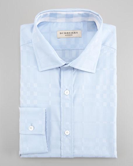 Check Dress Shirt, Pale Blue